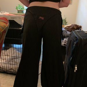 Baggy pin stripe EDM rave Pants